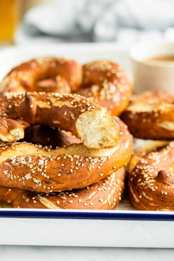 Soft Bavarian Pretzels