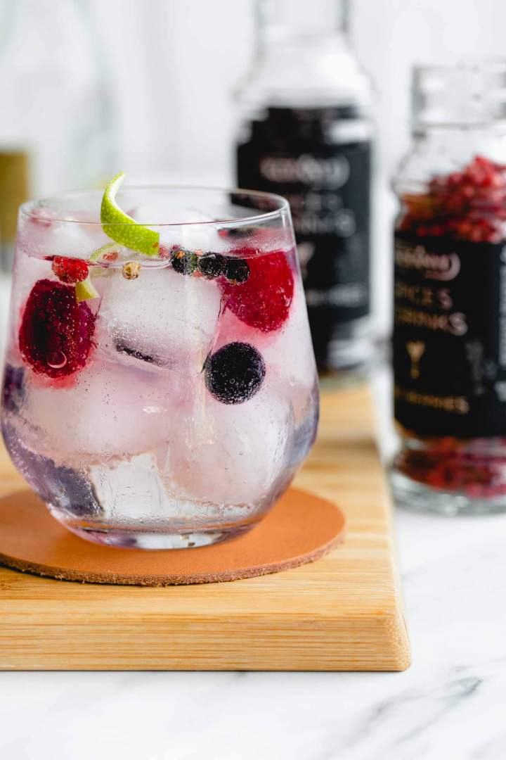Gin and Tonic with Berries
