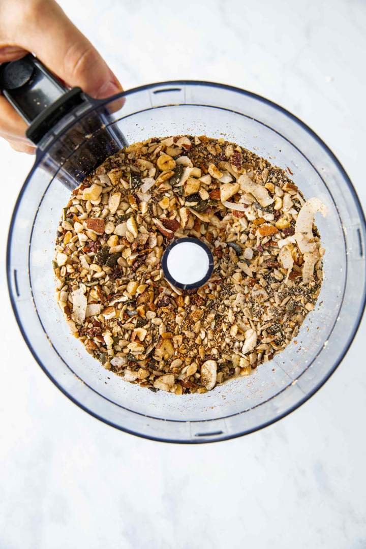 Healthy homemade granola with nuts and seeds