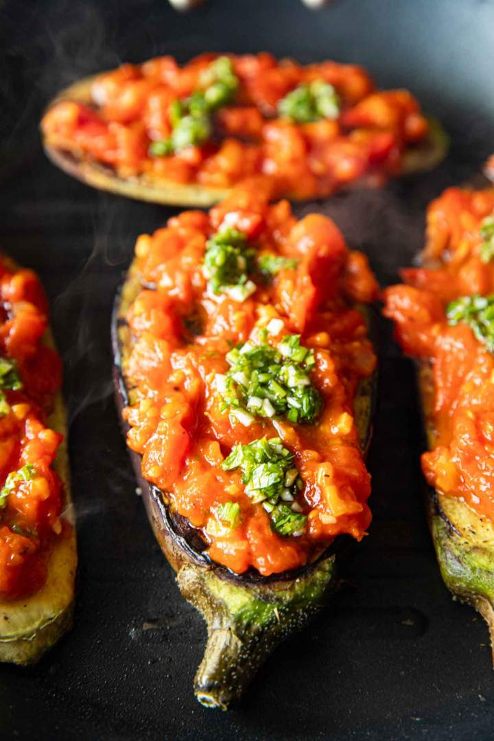 Grilled Eggplant with Homemade Tomato Sauce