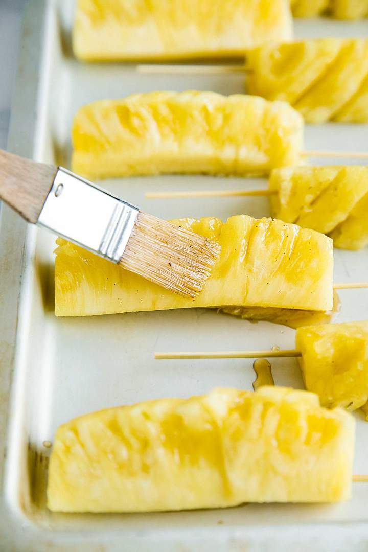 Glazed fresh pineapple