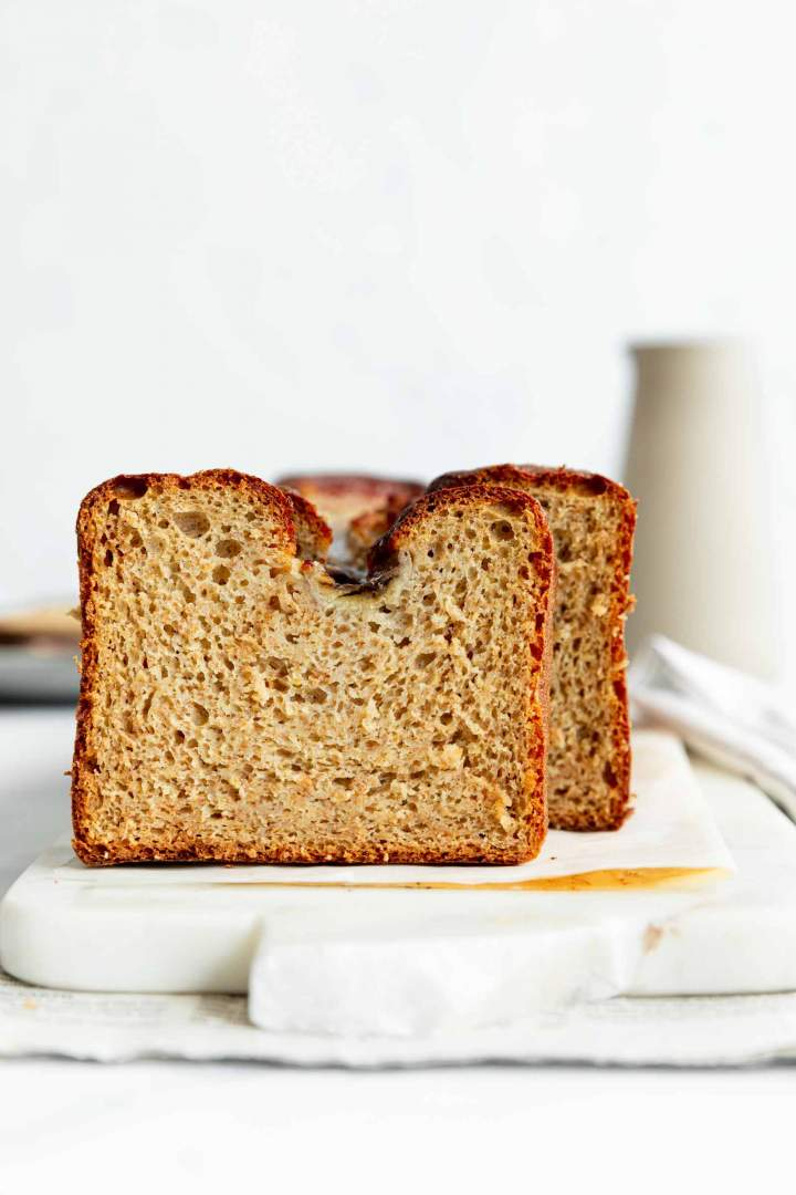 whole wheat banana bread with yogurt
