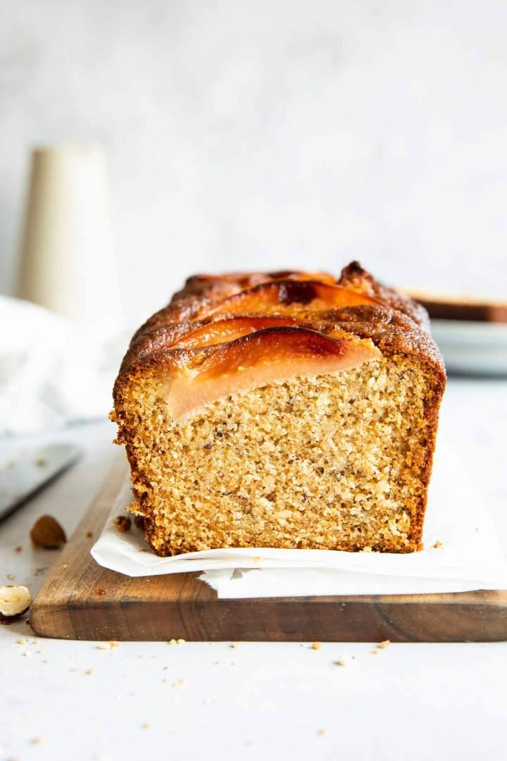 Honey Hazelnut Quince Cake