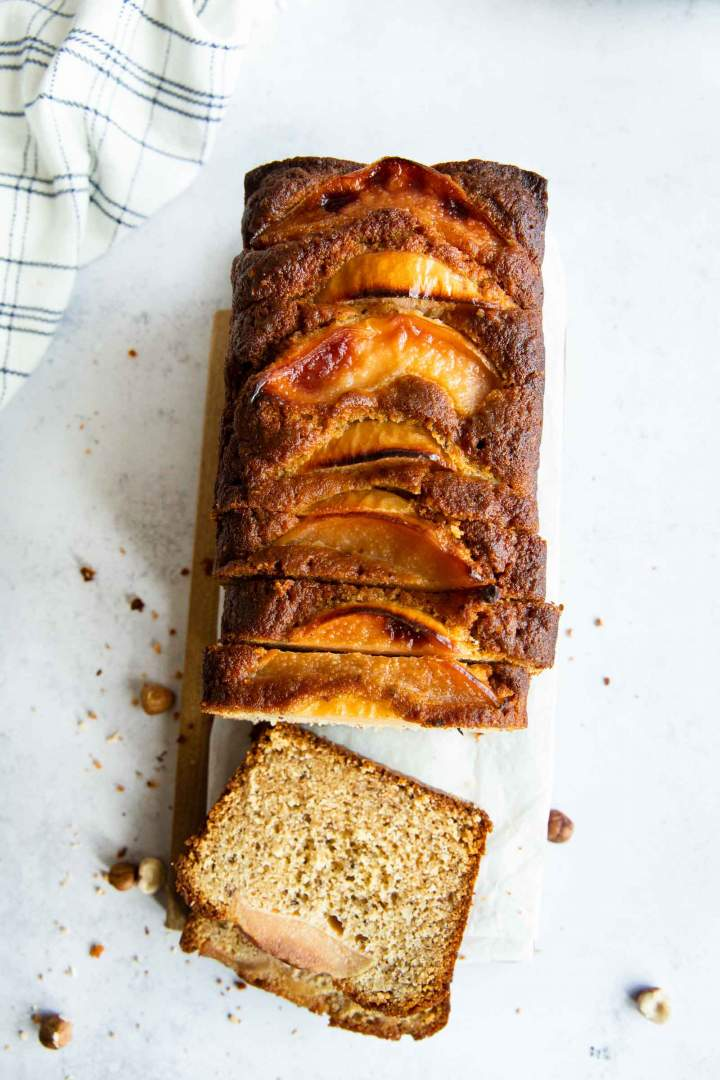 Fall dessert. Honey Hazelnut Quince Cake