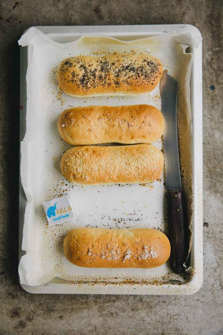 Soft, Homemade Hot dog buns