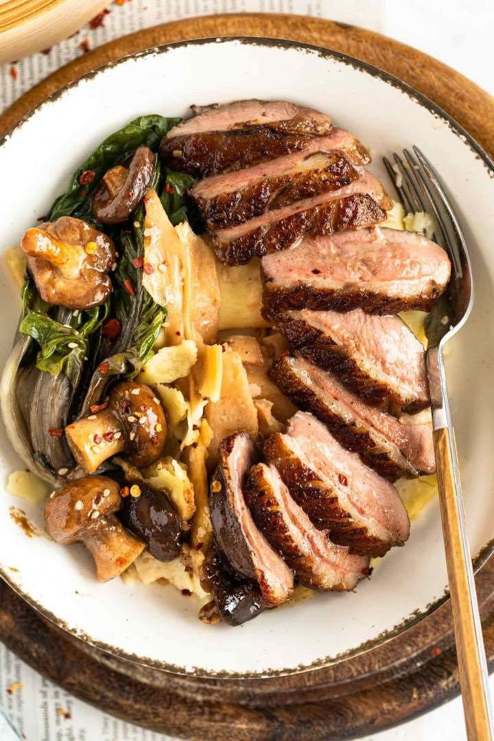 cooked duck breast