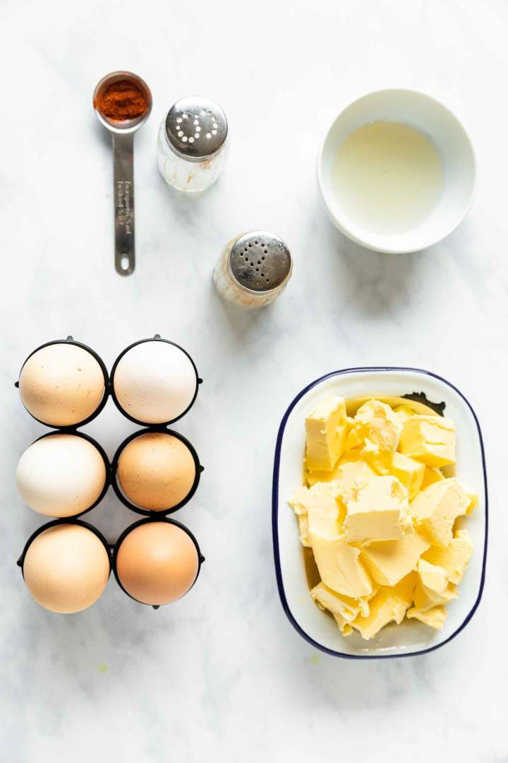 Ingredients for Hollandaise Sauce