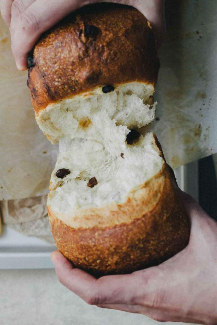 Milk Bread with Raisins