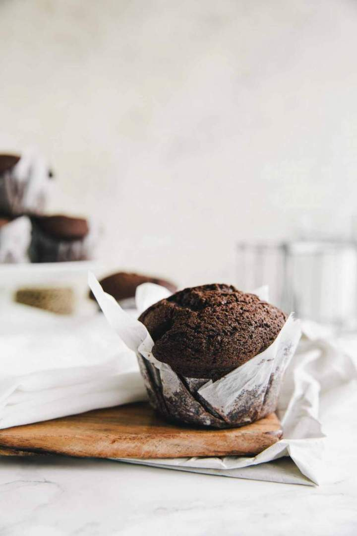 Baked Double chocolate Muffins