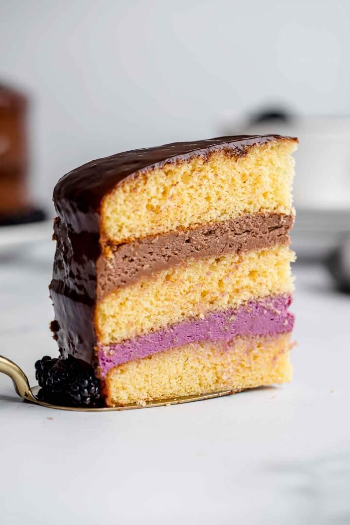 Birthday Blackberry Nutella Cake