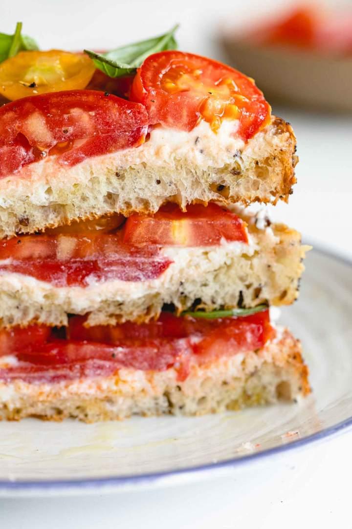 Whipped Ricotta Tomato Toast recipe