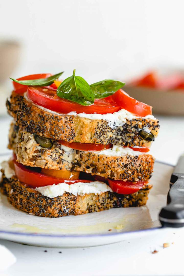 Whipped Ricotta Tomato Toast