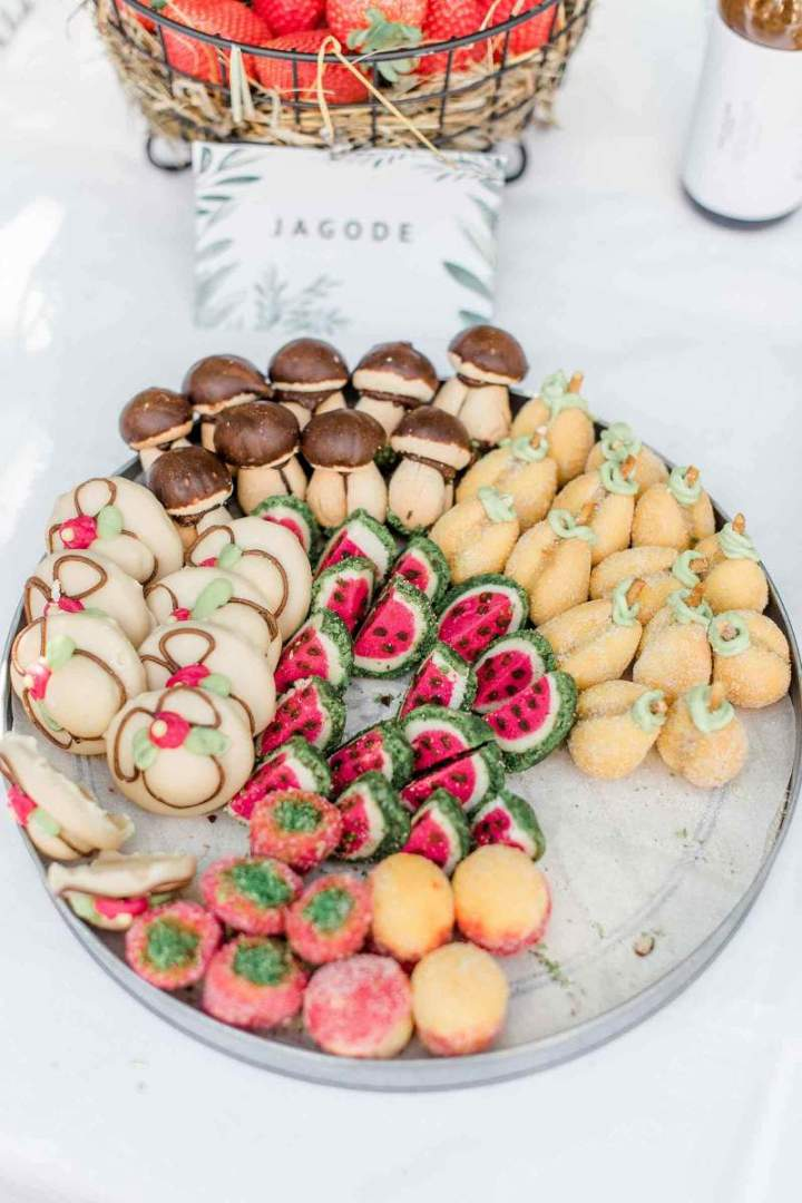Our intimate spring wedding cookies from jernejkitchen.com