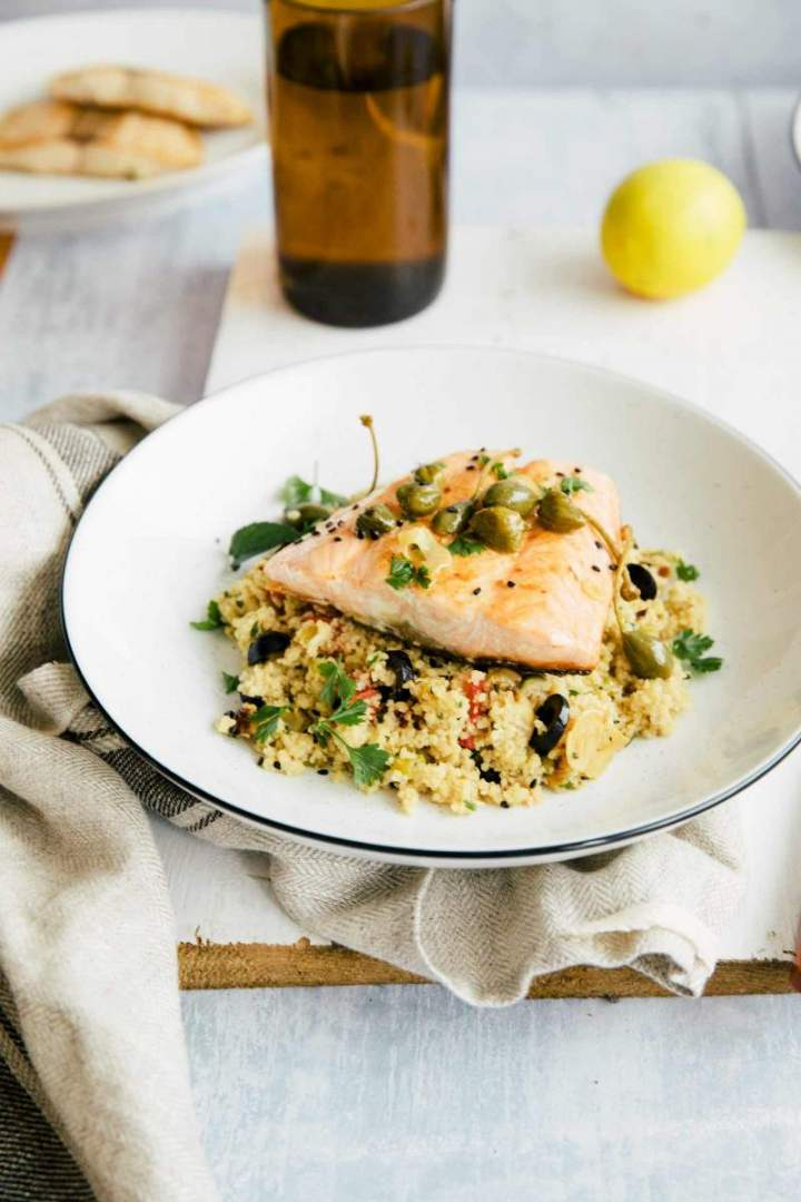 Pan-fried Salmon with Aromatic Couscous