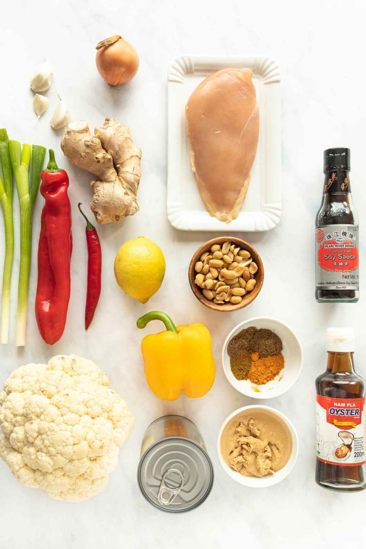 Ingredients for Peanut Butter Chicken