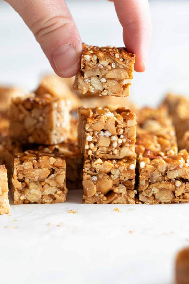 Peanut Butter Nut Clusters for a snack