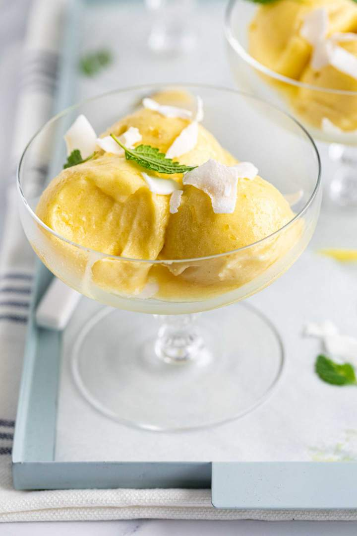 Pineapple Sorbet healthy and homemade
