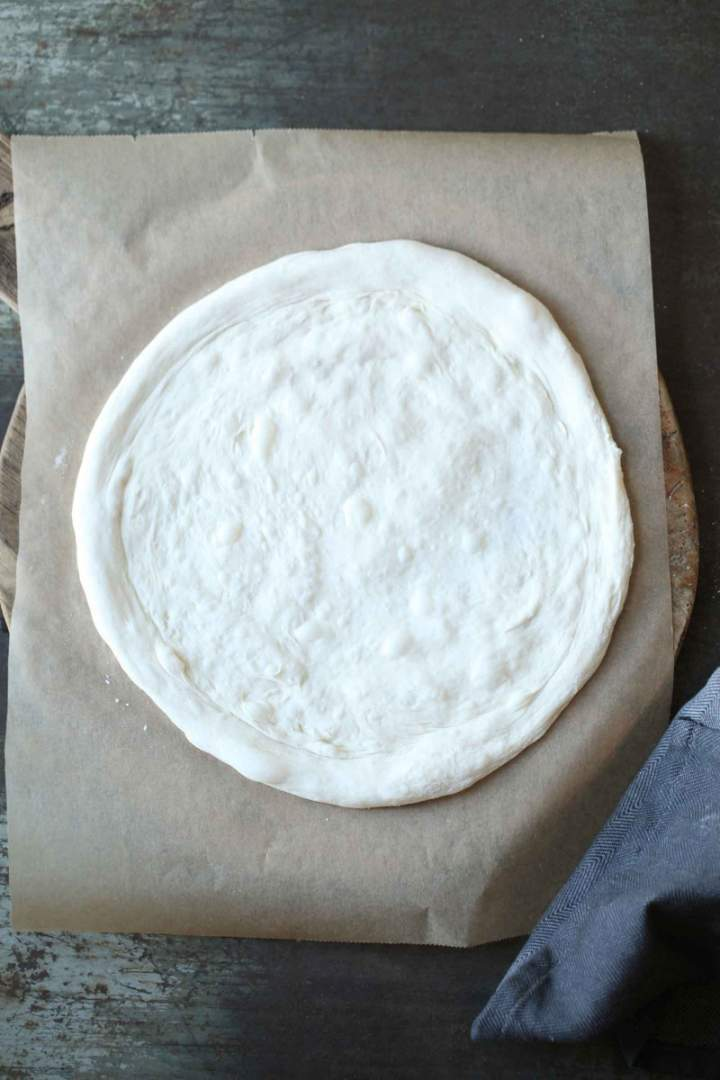 Prepared sourdough Pizza dough