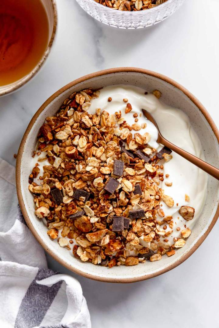 The Best Quinoa Granola with yogurt