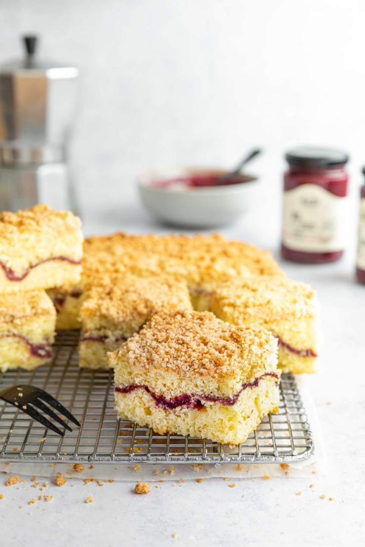 Sour Cream Coffee Cake with Raspberry Jam