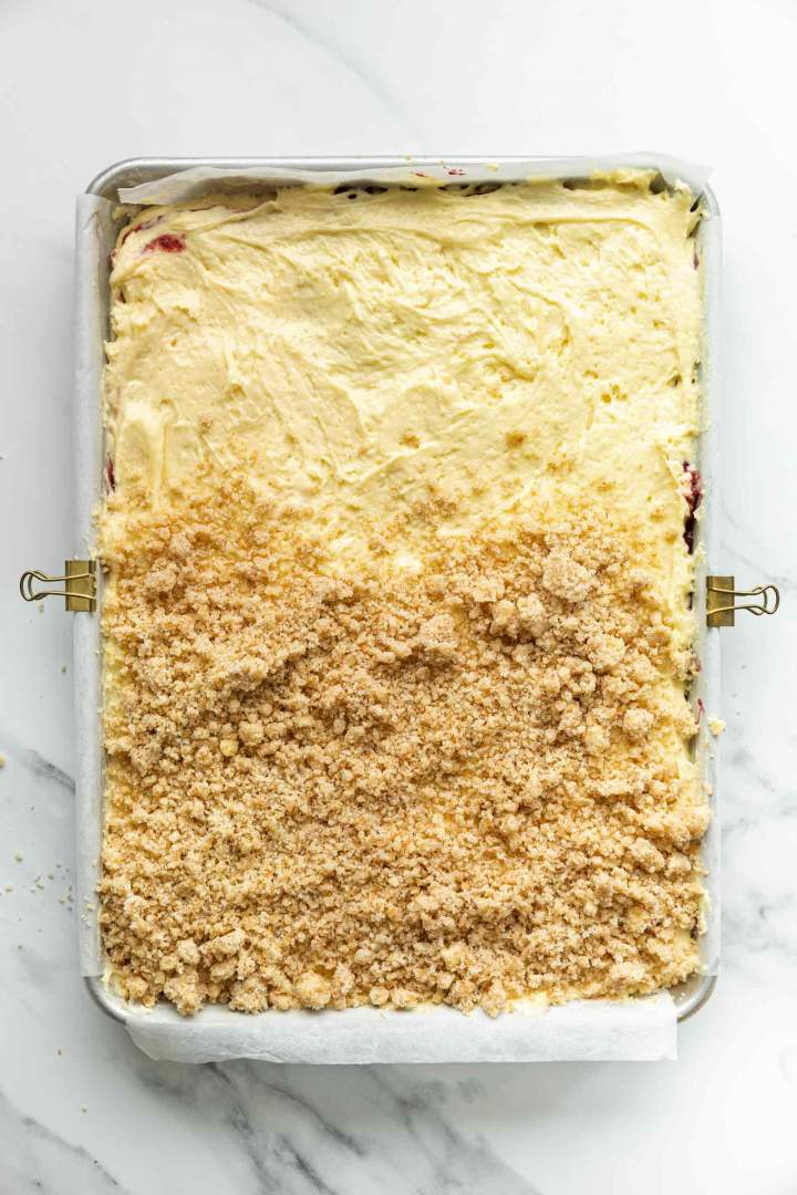 Coffee Cake Batter with whole wheat streusel