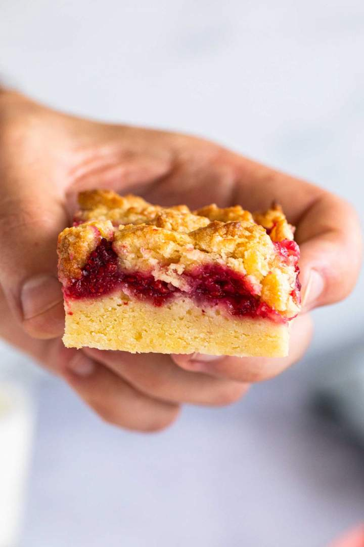 Raspberry Crumble Bar (so good!)