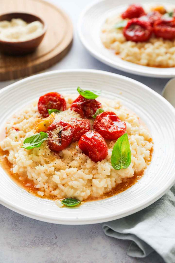 Cheesy Roasted Cherry Tomato Risotto