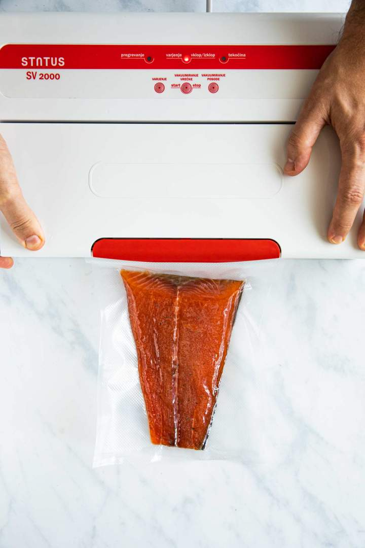 Freezing Cured Salmon Gravlax