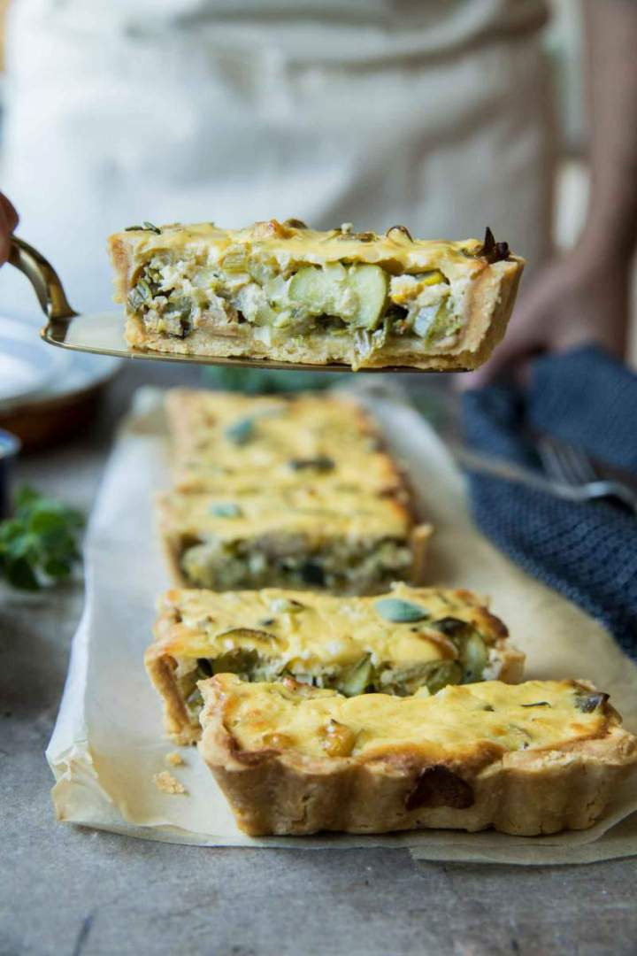 Seasonal Vegetables and Tuna Mediterana Tart