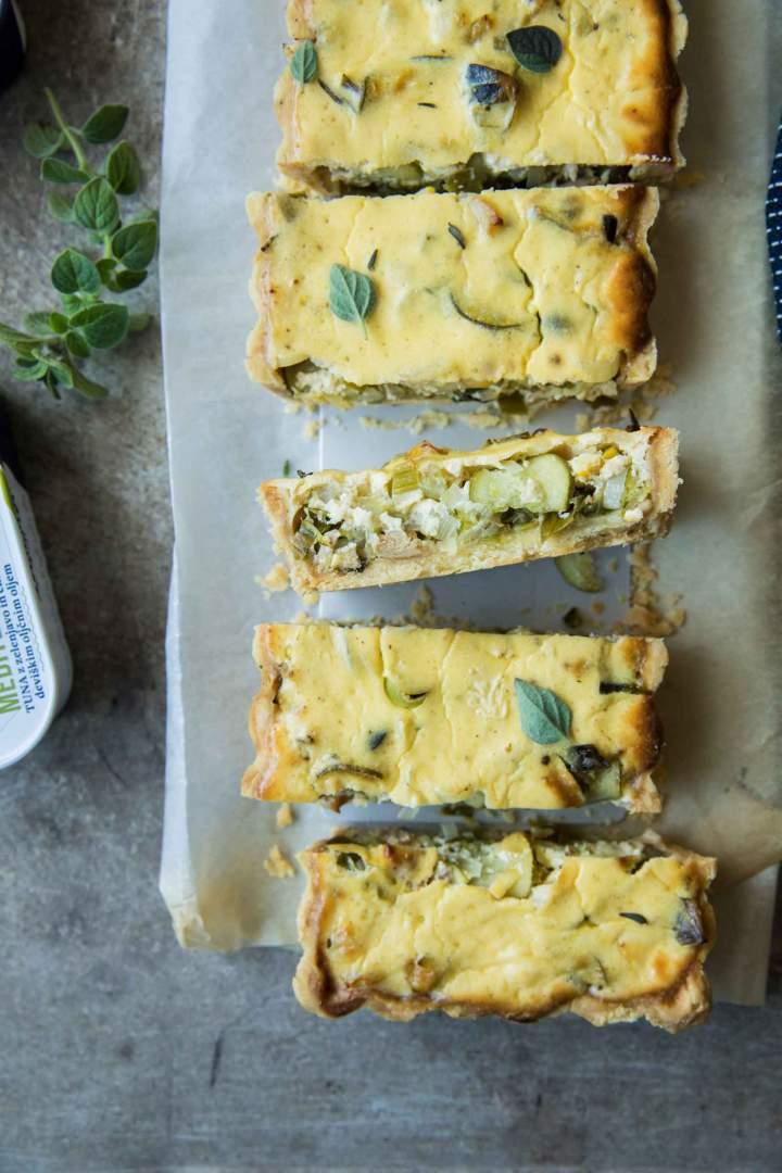 Seasonal Vegetables and Tuna Mediterana Tart