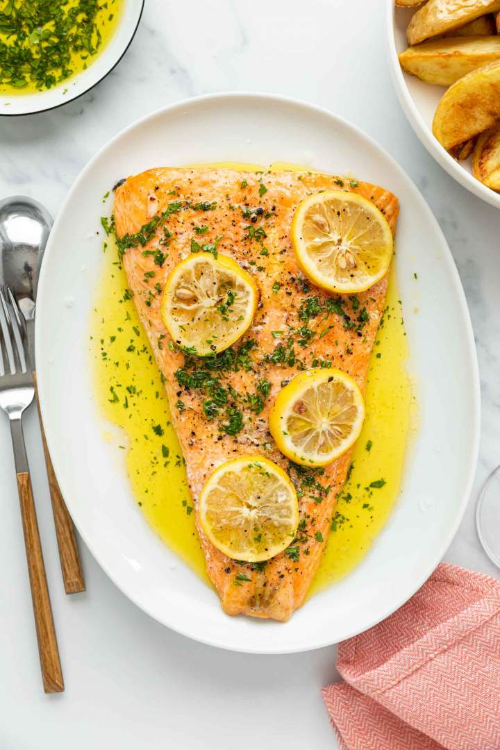 Simple Oven Baked Salmon recipe