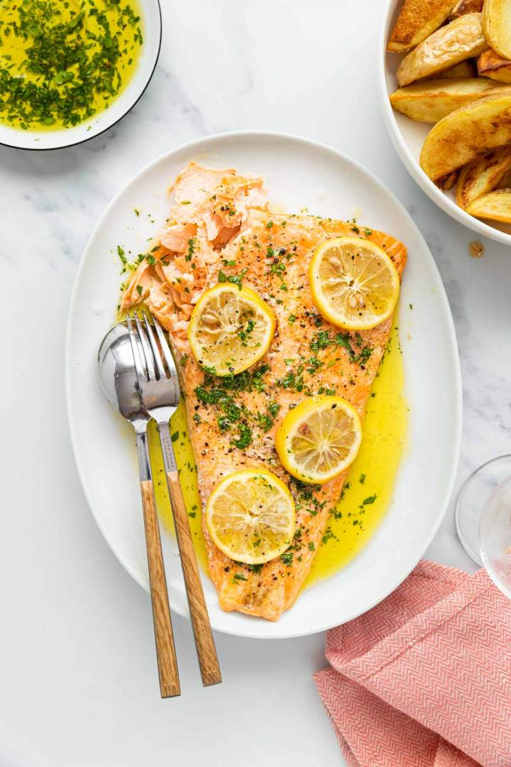 Simple Oven Baked Salmon