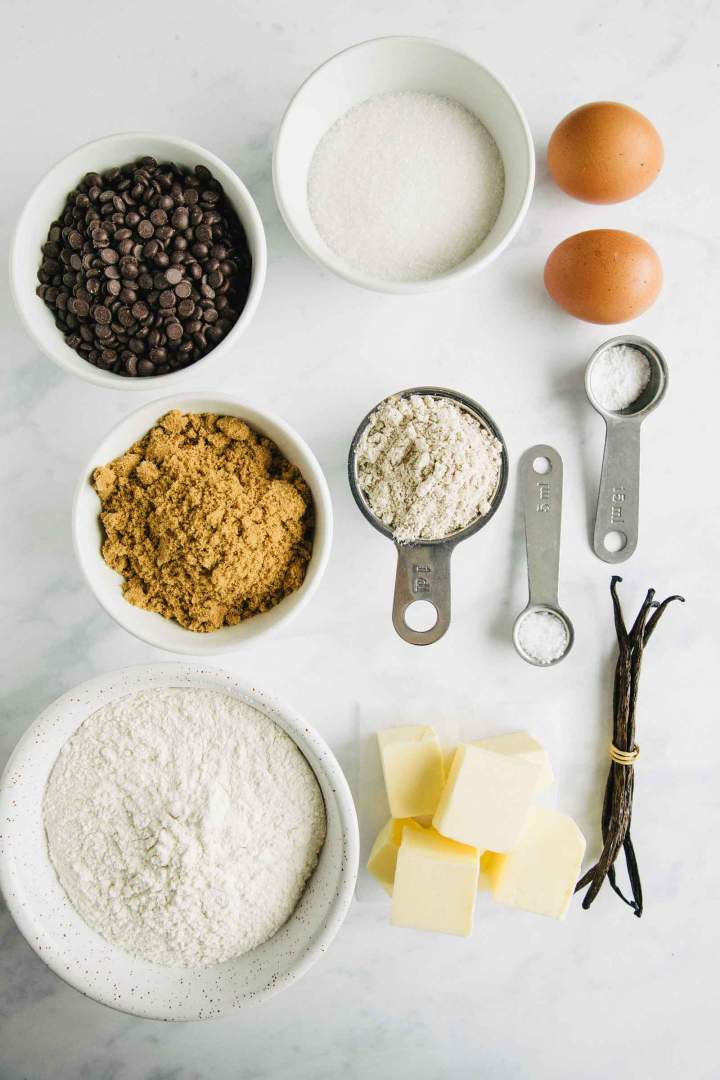 Ingredients for Whole Wheat Soft Chewy Chocolate Chip Cookies