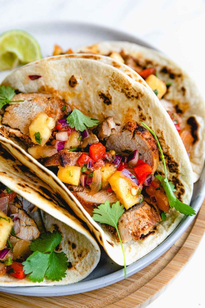Roasted Pork Tacos with Pineapple (Al Pastor)
