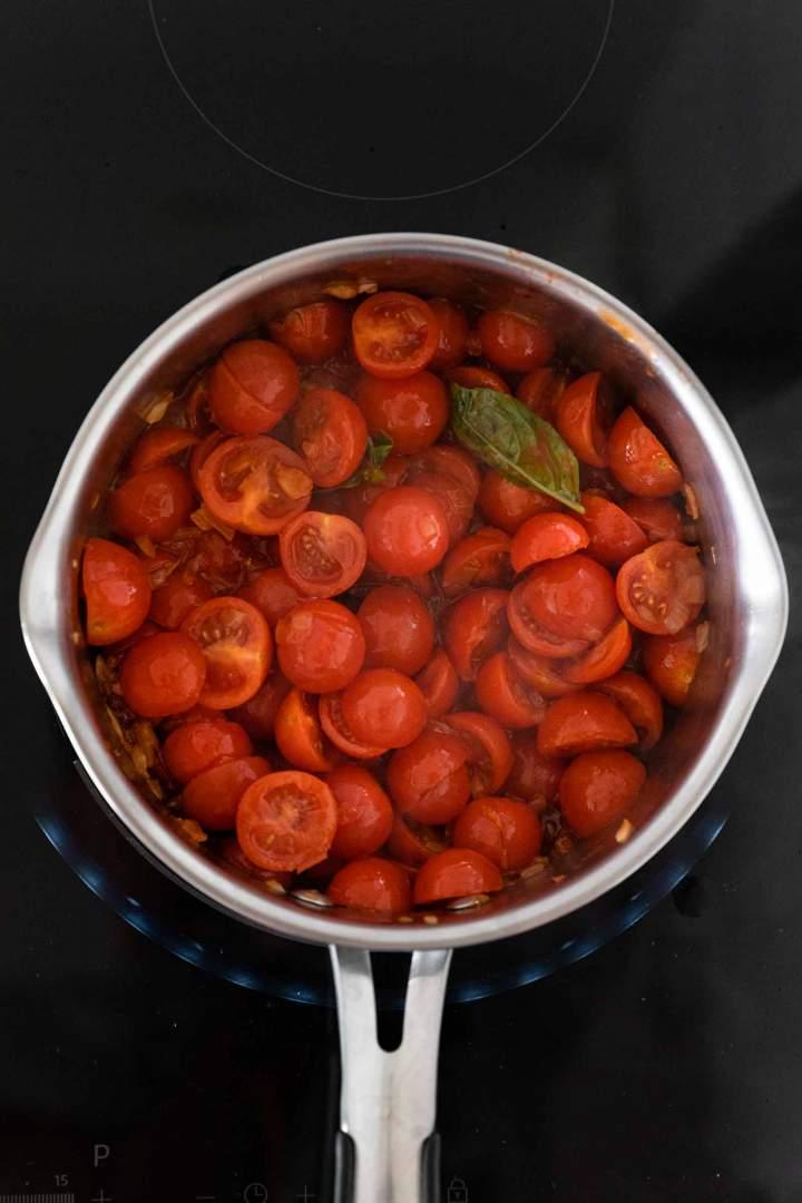 Praženje paradižnika za paradižnikovo juho