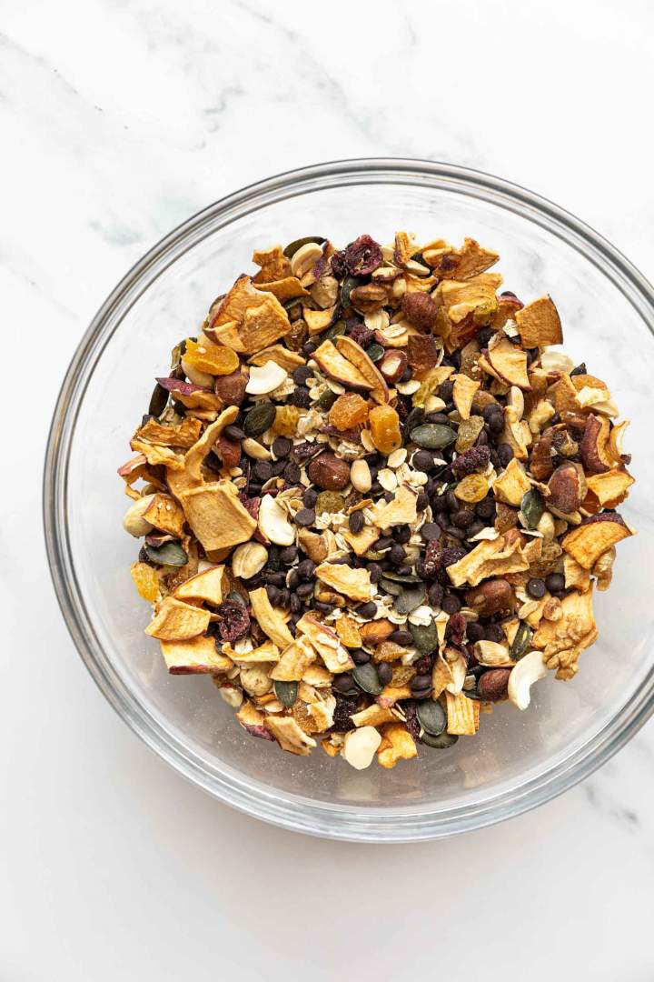 Healthy Trail Mix Cookies Mixture of nuts and seeds