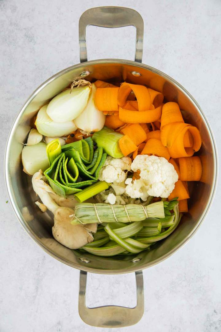 Vegetable Broth recipe before cooking