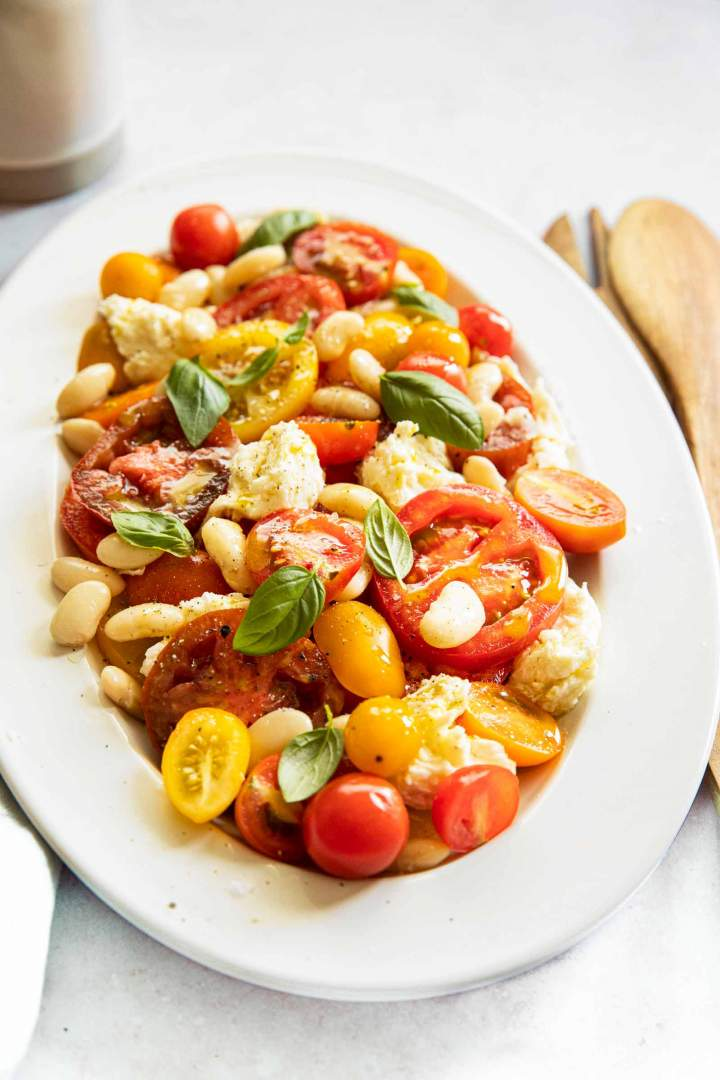 Caprese Salad with White Beans