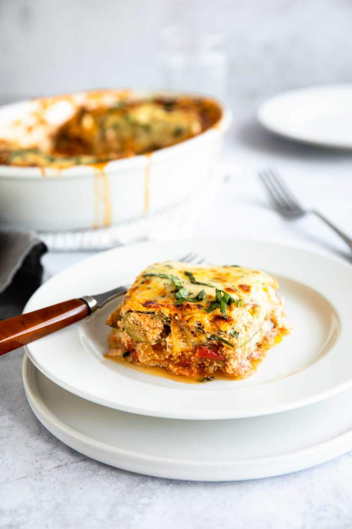 Keto Zucchini Lasagna with Ground Beef